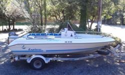 19ft Explorer in good condition. 115 Yamaha Main, 9.9 kicker. Both engines run well. Solid boat with a good Trailer, all lights and brakes working. Comes with 2 Scotty electric downriggers, Newer Lorance depth sounder, VHF Radio, fitted storage cover,