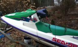 -want to buy a shell for a 1994 gtx seadoo. -green and white if possible. motor can be blown or taken out. -just want the shell. last winter a storage building fell on sea-doo. thats why it is smashed. engine still works strong, -let me know what you got.