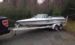 A very clean 94 Malibu Flightcraft ski boat with tandem axle trailor. Very clean and quite rare boat. Inboard 350, no issues. All services done including impeller. I dont want to sell but Other stuff needs my attention. Not into trades. No low ballers