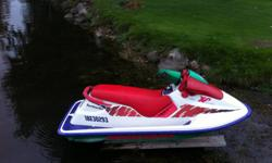 "1994 Seadoo XP, machine is in good condition, it has the standard 85 horsepower 670cc all rebuilt and new last summer. Quick and fun machine, brand new seat and upholstery this year. Comes with ""Trailer"" and ""Cover"", Just needs a battery, and the kill"