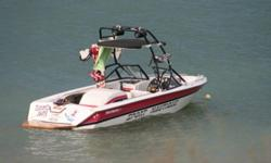 """1994 Sport Nautique 351w 5.8L engine with 310hp fuel injected Boss waketower with wakeboard rack as well as kneeboard rack and a mirror, 4 tower speakers and a crunch amp Sony deck with alpine speakers all around 12"""" kicker solobaric L7 with kicker"""