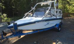 21ft ski centurion powered by a 350 merc in like new condition with low hours, Stereo includes 2 amps 1 sub 8 speakers and 5 twitters, the boat has lots of storage in the bow and storage/cooler in the rear compartment. New tires on trailer The boat has