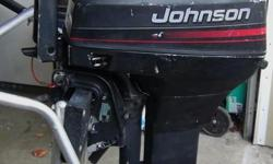 1996 15 Hp Johnson 2 stroke short shaft outboard motor, runs great, just had a major tune which included, new head gasket, compression 120 psi both cylinders, new spark plugs, carb clean, thermostat tested, water passages cleaned, new impeller kit, new