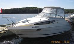 1996 2355 Bayliner Cerria, 5 Litre engine, Alpha 1 drive with trim tabs, bathroom, fridge stove, sink, fresh water tank, water heater and sleeps 4.   Also includes??. Bow, stern and morning ropes, buoys, full enclosed canopy, winter storage cover, stereo