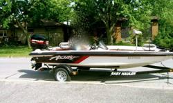 1996 Astro 1850 SCX Bass boat with a 1996 150hp Merc EFI. This boat is ready and fast. 60+MPH Comes with a 24volt i-pilot trolling motor(2011). 3 fishfinders. 2 on the bow and one is a lowrance downscan imaging unit. The helm unit is an Eagle 520C with