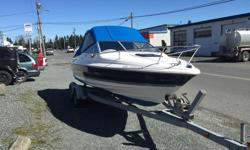 Very nice and clean 1996 Bayliner Capri Cuddy for Sale, local Nanaimo boat for most of its life. Mercruiser 4.3L V6 with Alpha I drive, lots of power to ski or tube. factory full fresh water cooling, full canvas enclose, cuddy with porto potty (never