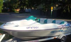 1996 Seadoo challenger jet boat and trailer 110 hp great boat lots of fun , runs well and easy to handle, good for tubing Selling due to purchase of other boat , located in Regina for viewing . More pics available on request posted on other sites $5500
