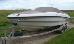 1997 Chaparral 2330 LE Sport Open Bow - 2006 Tandem Trailer. Supper fast and powerfull! Very nice shape. Has new starter just installed, hydraulic lines just flushed and engine winterized. Includes bimini top and travel/storage tops. Rating of 12 person