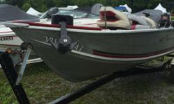 25 HP Mercury 2 Stroke 0G247108 Trailer 1PBBB05K3V1000853 Swivel Seats Trolling Motor Fishifinder This one is clean and looks much much newer. A great buy at only $5495. Located at 2825 Carp Road. Please call 1-888-212-9289 for more information and to