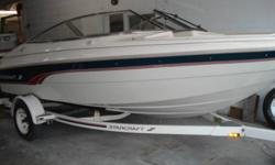 1997 Starcraft 1810 bowrider,powerfull 4.3V6 merc/alpha,stereo,tilt wheel,bow and cockpit cover,includes factory trailer,always garaged,very tiddy,serviced,can be seen indoors heated,8975.00    519 727 5353     see more clean boats at