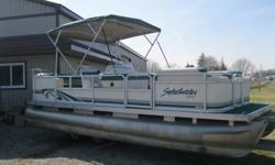 "1997 Sweetwater 20 Pontoon Boat w/30hp Mercury * Full Furniture Seats 11 * 20' Long x 8' wide * 24"" Diameter Pontoons * 30 hp Mercury 1996 * 2 Stroke * Power Tilt/Trim * Runs great * Storage Area under the seats * Rear Tanning Bed * Helm with Gauges *"