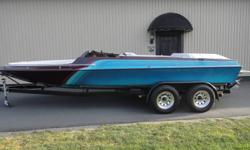 """The 21 Stealth is a stunning performance value, with sweeping lines this is no """"entry level boat"""". 5.7L engine, Merc Alpha, tandem trailer, stereo, bimini, stainless blade, etc...Look around and see what these boats are priced at. Very well built high end"""
