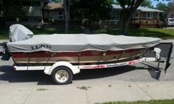 75 HP Merc. Outboard Motor 3 Pedestal seats 3 New Batteries (2015) 2 Live wells 2 Bait wells Radio and C.D. Player Accessories: 1 Lawrence fish finder Boat lights and horn 2-80 lb Troll motors-front and back-Dakota 3 adult and two children's life jackets