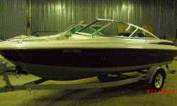 """4.3L V6 engine 190hp with alpha1 outdrive, stainless mirage prop, top speed of almost 60mph, cd stereo with two 12"""" subs and amp, newer canvas tonneus, full bimini enclosure, comes with lines, anchor, bumpers, saftey equipement, fire extinguisher, and"""