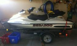 Selling a 1998 Seadoo GTX RFI, Upgrading to 2007 RXP... If interested come take a look.. 2006 Ez Loader Trailer also included.. 2 Life Jackets, all safety equipment, adjustable paddle... also included.. New battery put in last season, seats re-done, new