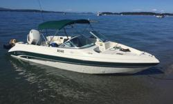 This is a mint condition 1998 Seaswirl 180 Fish n Ski model this is a hard to find model great for fishing or just tubing on the lake. Boat is just over 18 ft. and 7 ft 7 in wide and 2400 pounds all fiberglassed so no rot. Only seen saltwater a couple