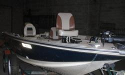 16.3ft 40 HP 2 stroke Mariner Electric start, with tilt and trim motor and front control 65 lbs thrust mimkota 24V electirc, two year old batteries one year old starting battery Onboard charger bimini top Two hummingbird depth finders Livewell,boat cover,