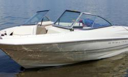 1999 Bayliner Capri 1750 135 HP, 3.0 litre, 4 cylinder inboard with Mercruser bottom end. This boat is in pristine condition and has only 97 hours on it, original owner this boat was purchased from Performance Marine in Regina. Always stored in garage,