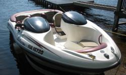 A 1999 Seadoo Challenger family boat. Interior is in excellent condition and it has 2 rebuilt engines, runs like new. Only used in the lake. Comes with trailor and cover. Call Brian 880 0228. Must sell!