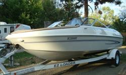 19.5 Glastron Boat.  4.3 Volvo Penta inboard motor. Full cover.  Swim deck.  Storage under front and rear seats.  Will do 50+ mph.  Always stored under cover.  Serviced regularly by qualified service shop.    Reason for selling... would like to buy