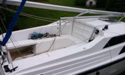 Stop dreaming and start sailing. This boat is in very good condition. Comes with Honda 2 hp, 4 stroke outbound. New electrical wiring/fuse panel last year. Depth sounder/fish finder. Custom built oak head door plus custom built oak table. New mainsail