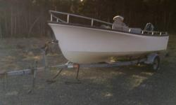 19' Seabreeze fiberglass boat with trailer and 40 hp Evinrude commerical outport motor. Well maintained.   Ask for Ern   SOLD SOLD SOLD!!