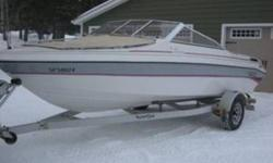 4.3L inboard with OMC sterndrive. New crate engine with 2 hrs on it. Boat and trailer are in very good shape. Check out my other postings in the top right corner under the phone number