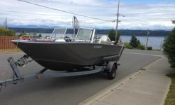 1994 Spectrum 190 aluminum and trailer. 130hp Honda 4 stroke and 9.9hp honda 4 stroke kicker with remote throttle and linked steering. Unsure of the hours on the engines. Both engine's just had new oil change with synthetic oil in engines.New water pumps,