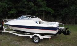 2004 Bayliner 192 with Cuddy Cabin. This boat is ideal for familys with children, the cuddy has lots of room up front and comes with a portapotty never used. The boat has high sidewalls and with the enclosed frontend can handle big waves. The engine is a