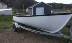 19ft fiberglass boat 30 hp evinrude and galvanized trailer (shorelander)