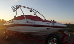 2008 19ss Crownline open bow, 4.3 v6 220hp fuel injected, 105 hrs, roswell tower, bazooka speakers, snapet in carpet, tarps, can finance