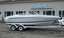 2000 ChrisCraft 200 Bowrider Description: This classic looking ChrisCraft bowrider is in very good condition. It is powered by a smooth shifting Volvo 5.0L GL with SX outdrive. Nice clean family sports and entertainment boat. This bowrider has a large bow