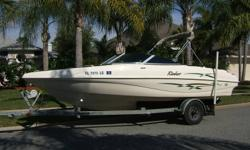 2000 RINKER 212 CAPTIVA This boat and trailer are in excellent condition and the pictures tell the story. The boat is powered by a fuel injected 350 mercruiser with alpha one stern drive and S/S prop. Boat comes with bow cover ,cockpit cover, bimini top,