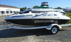 2000 Sea-Doo Speedster Description: Nothing but fun on the water with this quick little vessel powered by a 240-hp EFI Mercury M2 Jet Drive. There's plenty of room on this jet boat with seating for five, and the seats are deep, for added safety. Padded