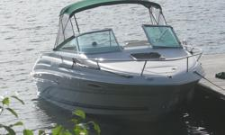Immaculate condition, 5.0 liter fuel injected, 240hp Mercruiser, low hours (less than 450 hours), trim tabs, depth finder, upgraded stereo, cuddy cab with toilet and sink, sleeps 2 comfortably, pressurized water system, transom shower, integrated swim