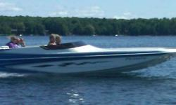 MUST SELL consider all offers on this mint condition boat has everything top speed 110 MPH WITH FULL DUAL COVERS GARMIN GPS SMARTCRAFT GAUGES TRAILER AWESOME STEREO CAN SLEEP 2 IN A PINCH, the options are endless. Can deliver. call 705 750 0777 or cell
