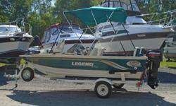 2001 Legend V165 Viper This super clean boat is in really good shape and ready for late season fishing as well as a great all around family fishing and pleasure boat. It has a trolling motor, fish finder, 3 seats, and a removable back rest and cushion for