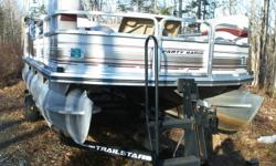 2001 - 18ft Suntracker Pontoon Boat PARTY BARGE INCLUDES 2001 MERCURY 25 HP OUTBOARD, FOUR STROKE- WITH APPROX 85 HRS,NEW COND- ALSO 2001 TRACKER MARINE TRAILER MODEL P18 DECK IS ALL ALUMINUM, AND RIBS-ARE ALUMINUM FRONT GATE ENTRANCE AND LADDER AND REAR