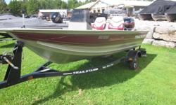 This 2001 Tracker Super Guide V14 includes two moveable seats and a trailer. This boat has been well used and is perfect for those interested in fishing. Please call 1-888-212-9289 for more information and to schedule a viewing.
