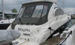 One owner boat with twin 450 Cummins turbo diesel engines, 12.5 kw generator- aft and bow thrusters, 420 hours, 2 GPS,auto pilot, radar, VHF, 3 TV's, surround sound, XM radio, 3 A/C's, ice maker, wine cooler, convection microwave, 2 full staterooms with 2