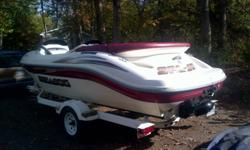2002 Sea Doo Challenger, 18 ft jet boat.  Less than 100 hours, excellent condition, includes trailer and cover.