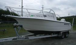 2002 SEA FOX / with 2011 aluminum boat trailer This boat is as good as new powered by 2004  225 hp Evinrude with 350hrs Boat has cuddy with porta toilet , alcohol stove , sink,  will sleep 2 no problem. cockpit of boat has full enclosure . complete