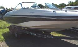 4.3L MPI 220 HP Mercruiser Bimini Top Sink Am/Fm Stereo Bow and Cockpit Covers Trail Star Trailer Fresh trade, just tuned up and detailed ready to go. Please call 1-888-212-9289 for more information and to schedule a viewing.