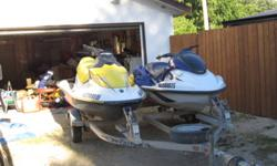 Up for grabs is a 2003 Waverunner Gp1200R and a 2007 Triton trailer. I will sell them as a package for $6500 or single -  the GP1200R for $ 4300. The double trailer for $1000 (only when one the Yamaha is sold).  PWC works great with no running issues.