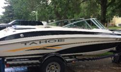 For sale 2093 19ft Tahoe engine is a 5.0 mercruiser very strong engine runs excellent very quit with the extra thick sun deck very clean and nice boat comes with a hi5 stainless steel prop recent work done all bellows changed,gimbal bearing replaced,shift