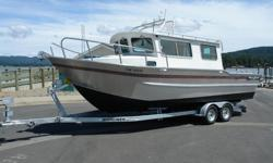 "26-0 x 9-5"" beam Silver Streak Cuddy Model Year 2003 Power Volvo KAD 43 diesel duo prop (Hours 336) Self bailing aft deck Insulated engine box Radar arch Transom exit door Swim Ladder on transom platform Fully insulated cabin Bottom paint recently"