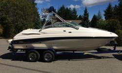 This 21ft boat is in excellent condition and well looked after! Stored inside year round Comes with a Zieman Tandem Axle Trailer Wake Tower Bimini Cover Full canvas plus boat cover Spacious Cuddy cabin for Sleeping or storage Snap in Carpets Just over 500