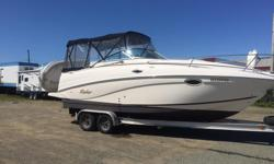 2003 Rinker 250 Fiesta Vee for sale Very clean and fully loaded. top quality interior, full bathroom with shower, shore power, fully enclosed canvas in excellent condition. 5.0L MPI mercruiser engine, with bravo III outdrive. Kenwood stereo system, garmin