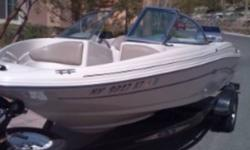 ****PRICE REDUCED****We want this SOLD!!!! Blowout end of season price! If you are looking for a used boat in excellent condition you can stop here! Fuel efficient Mercruiser 3.0 liter 135 hp engine will give you hours of fun on the water and not drain