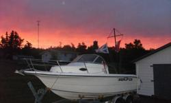 2003 seafox boat for sale.deep v 150 merc. saltwater seri...with low hours.new tandem trailer,vhf,gps,compass,fishfinder,trim tabs,kicker bracket and much more.very good on gas.